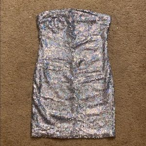 Sequin strapless Charlotte Russe dress size Small